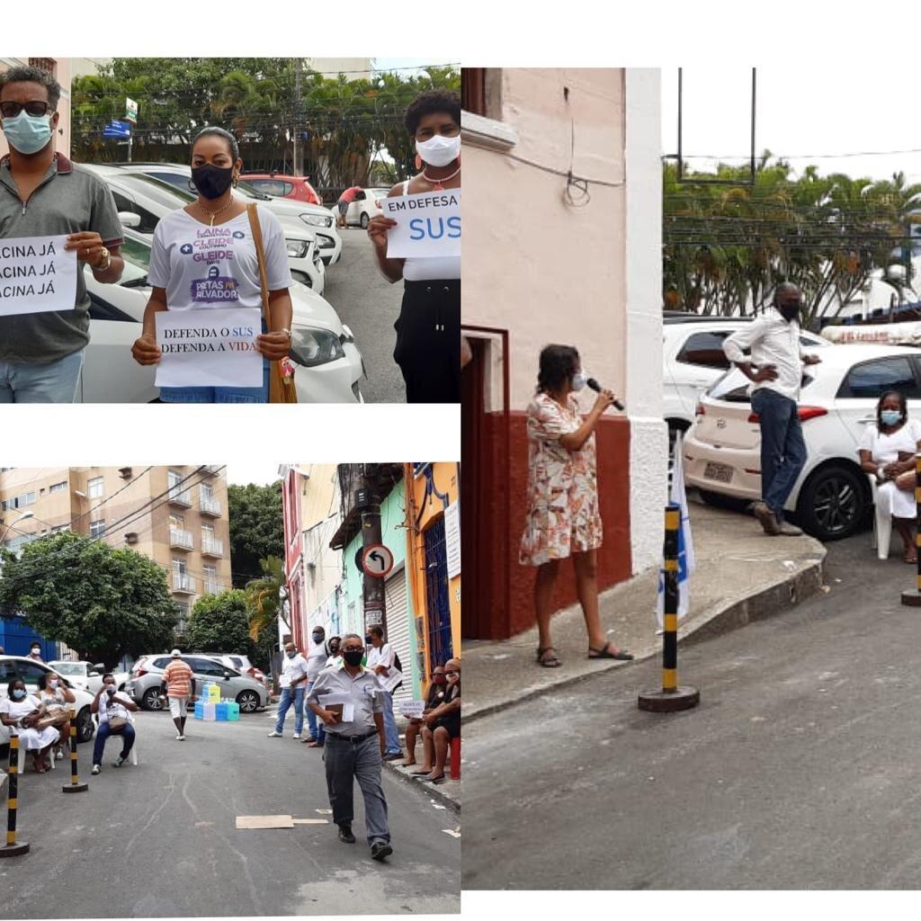 CTB-Bahia participa de ato por vacina já e pela volta do Auxílio Emergencial