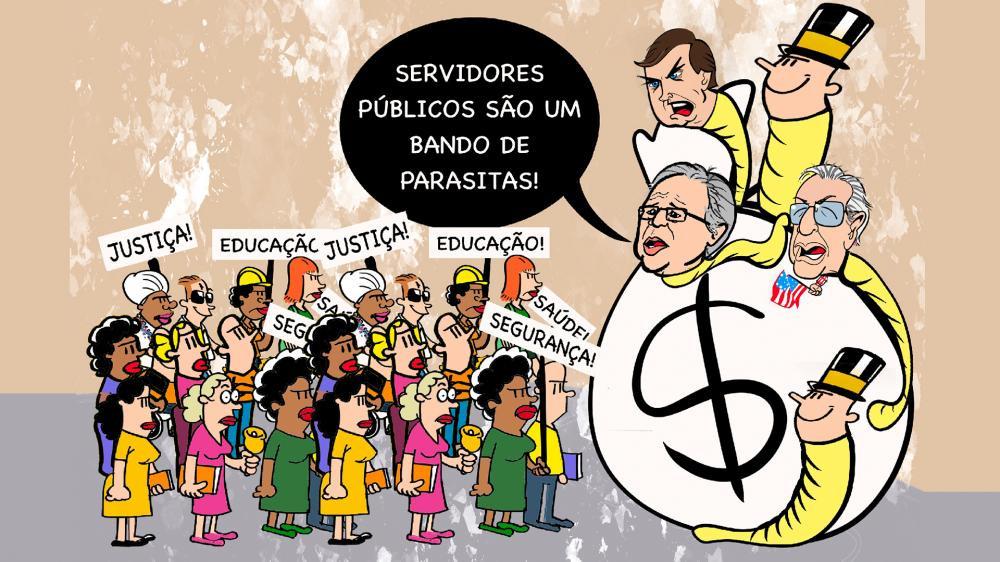 Paulo Guedes pede desculpas ao servidor, mas não convence