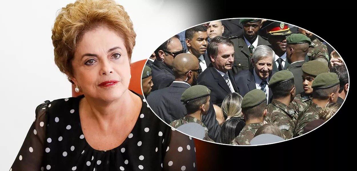 """Dilma: """"não vai ser fácil retirar 11 mil militares do governo e fazê-los voltar aos quartéis"""""""
