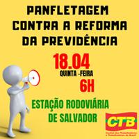 CTB Bahia convoca para panfletagem na Rodoviária de Salvador nesta quinta