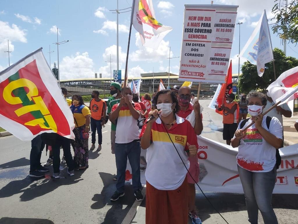 O 1º Maio solidário cobra vacina, emprego e fora Bolsonaro
