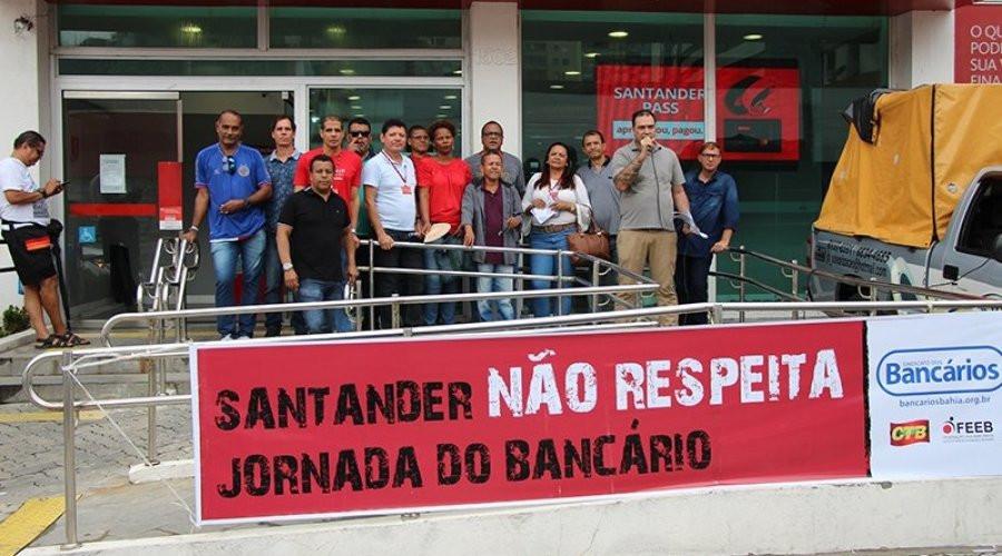 Protesto no Santander em Salvador surte efeito
