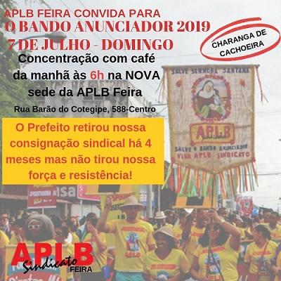 APLB Feira coloca o bloco na rua e participa do Bando Anunciador 2019