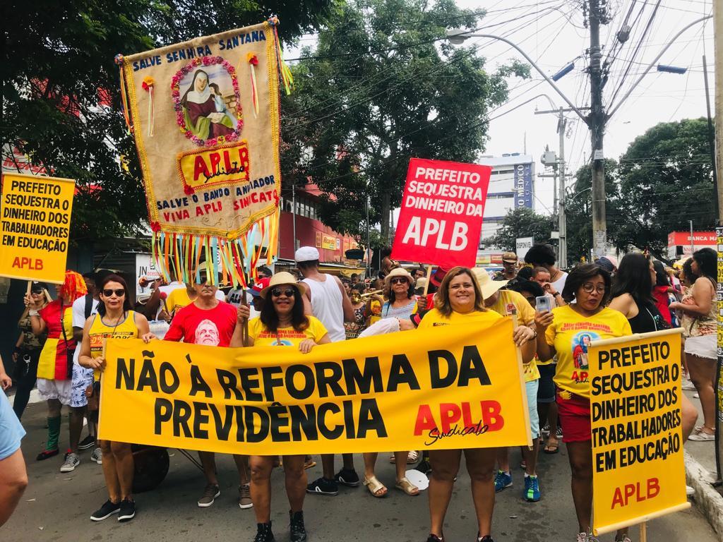 Bloco da APLB Feira no Bando Anunciador 2019 é sucesso