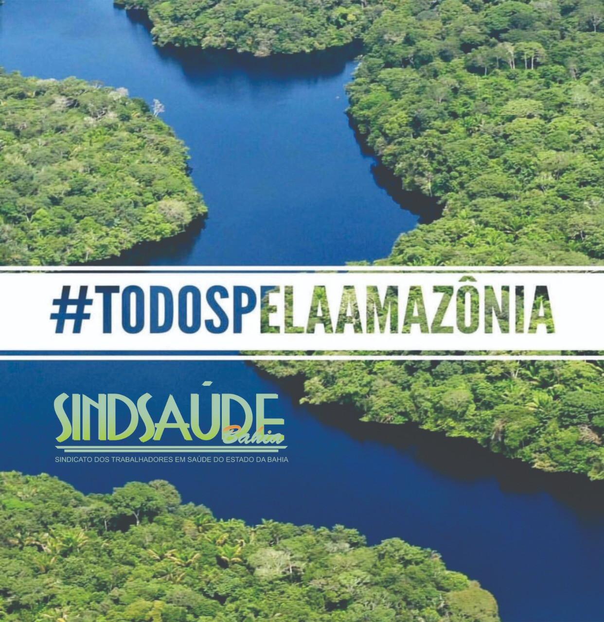 Manifesto do Sindsaúde em apoio a Amazônia e a Saúde do planeta