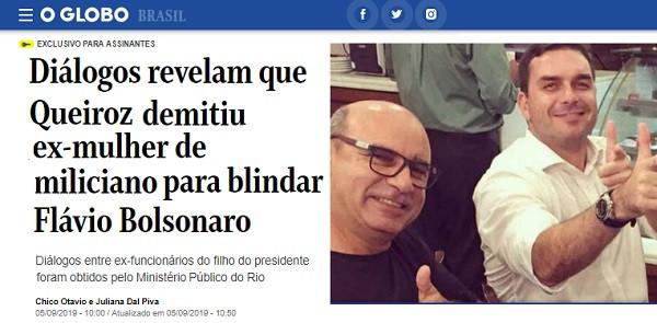 Queiroz demitiu esposa e mãe de miliciano para esconder elo com Flávio Bolsonaro