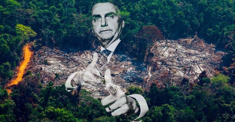 Bolsonaro reduz verba contra incêndios na Amazônia em 58%