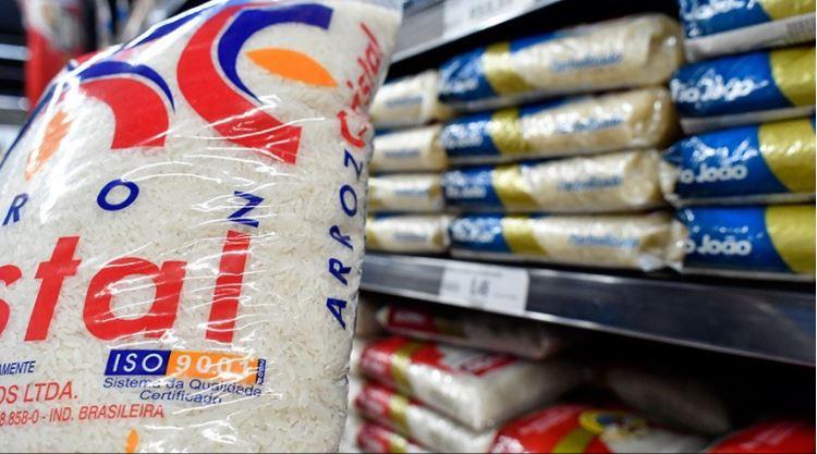 Estoques públicos de arroz são 81,2% menores do que em 2015