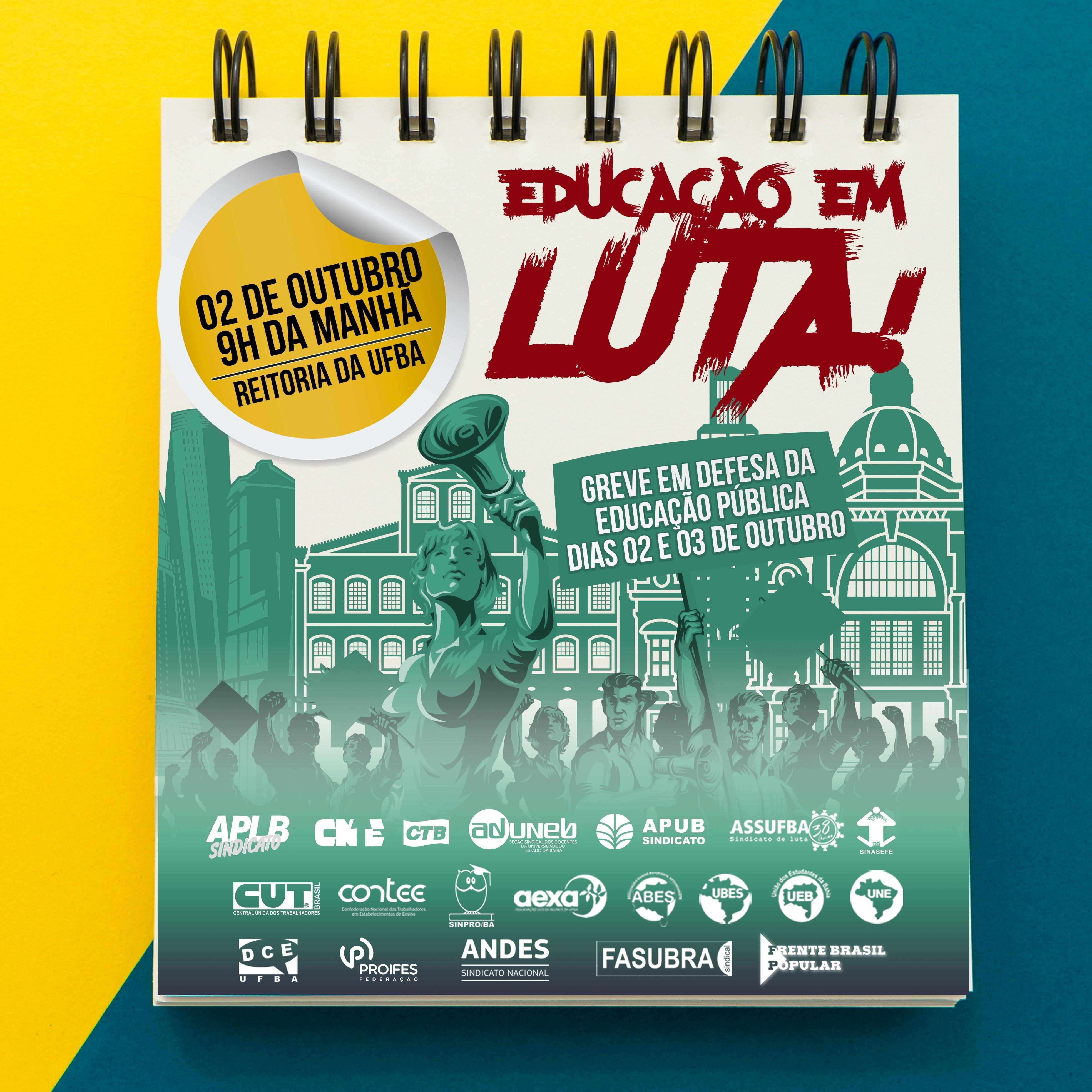 APLB convoca redes estadual, municipal e interior da Bahia para paralisar suas atividades na Greve Geral da Educação, di