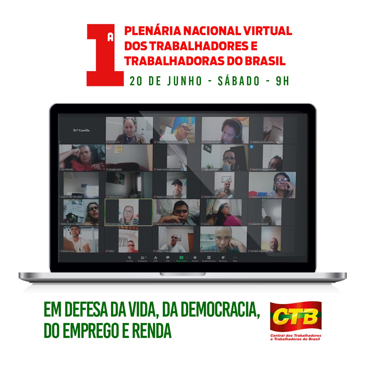 1ª Plenária Virtual Nacional da CTB