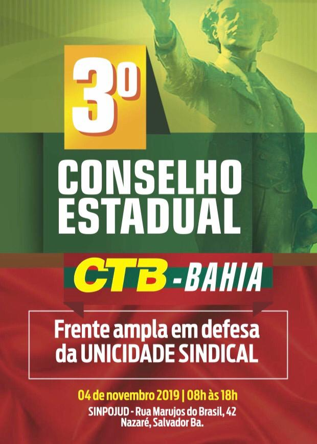 3° Conselho Estadual da CTB-Bahia